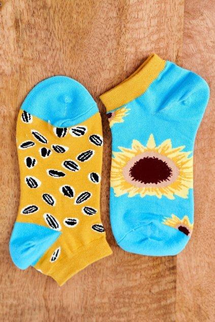 Dámske ponožky farba žltá kód SK02870-5 SŁONECZNIK