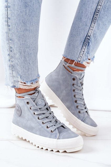Dámske tenisky farba modrá kód obuvi EE274115 LT.BLUE