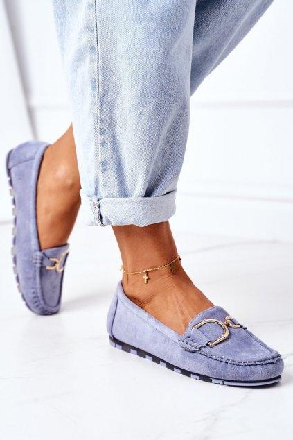 Dámske mokasíny farba modrá kód obuvi GS19 BLUE