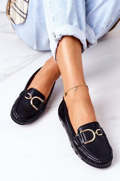 Dámske mokasíny farba čierna kód obuvi GS21 BLACK