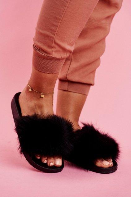 Dámske šľapky farba čierna kód obuvi WB01 BLACK