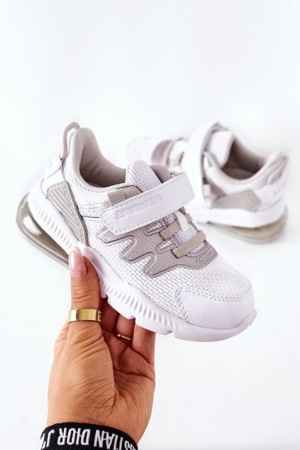 Detské tenisky farba biela kód obuvi B012202021 B012302021 WH/SI