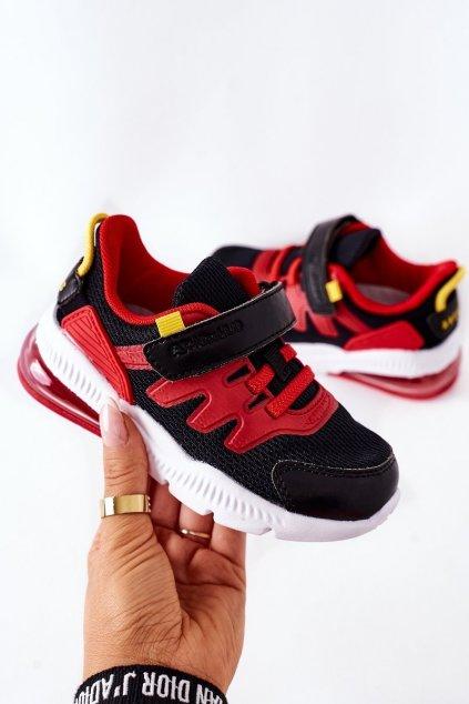 Detské tenisky farba čierna kód obuvi B012202021 B012302021 BL/RE