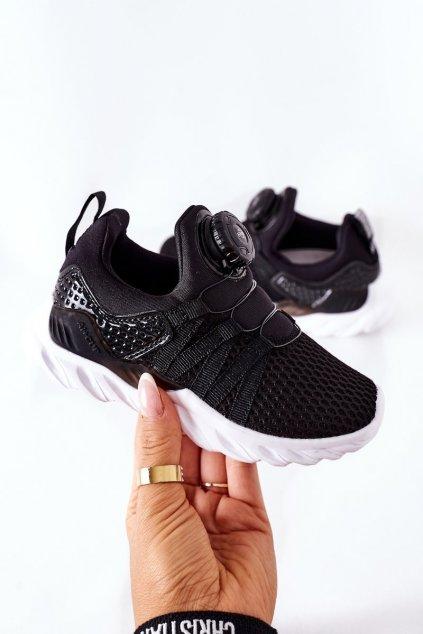 Detské tenisky farba čierna kód obuvi B91220236 B91230236 BLACK