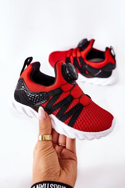 Detské tenisky farba čierna kód obuvi B91220236 B91230236 RED