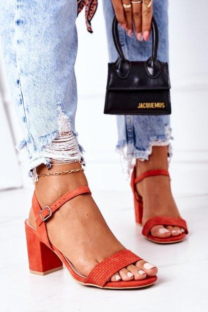 Dámske sandále farba oranžová kód obuvi 8158 ORANGE