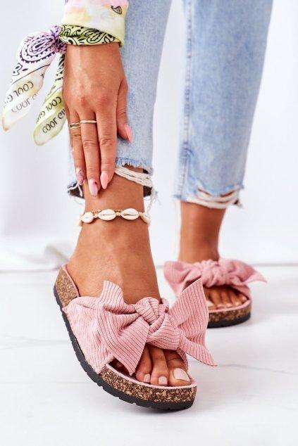 Dámske šľapky farba ružová kód obuvi DZ116-11 PINK