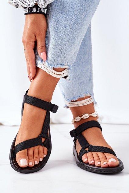 Dámske sandále farba čierna kód obuvi DZ300A BLACK