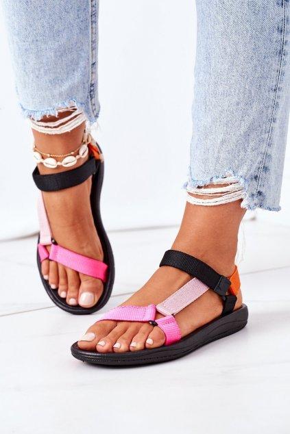 Dámske sandále farba čierna kód obuvi DZ300A-58 RAINBOW