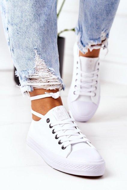 Dámske tenisky farba biela kód obuvi 9SP30-1141 WHITE SILVER