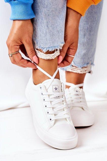 Dámske tenisky farba biela kód obuvi 21SP02-1200 WHITE