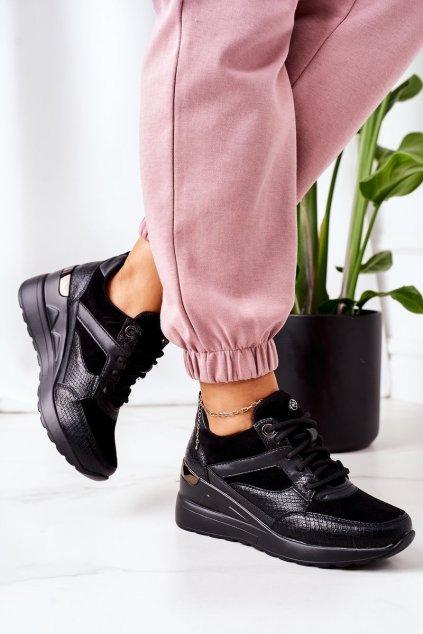 Dámske tenisky farba čierna kód obuvi 21SP35-4390 BLACK