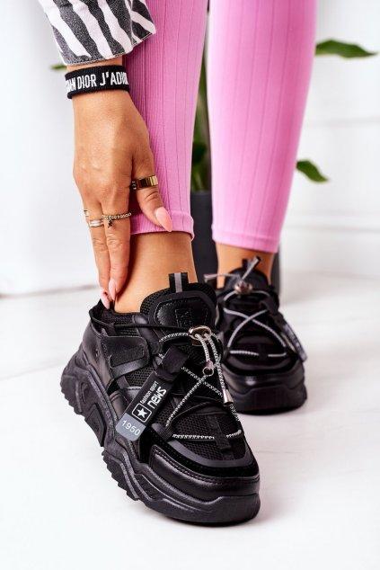 Dámske tenisky farba čierna kód obuvi 21SP26-4394 BLACK