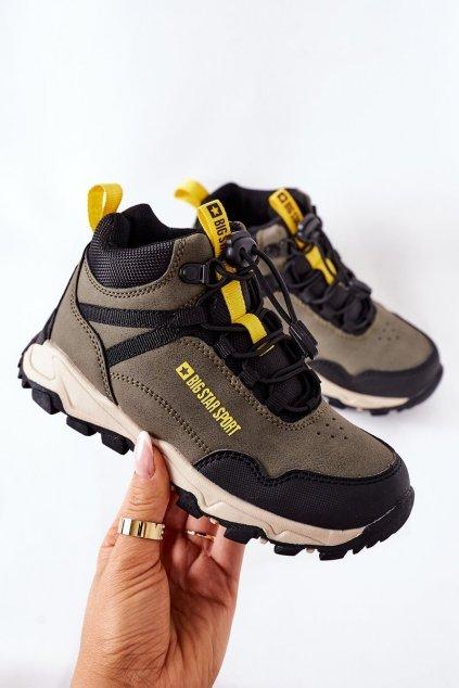 Detské tenisky farba zelená kód obuvi GG374047 KHAKI