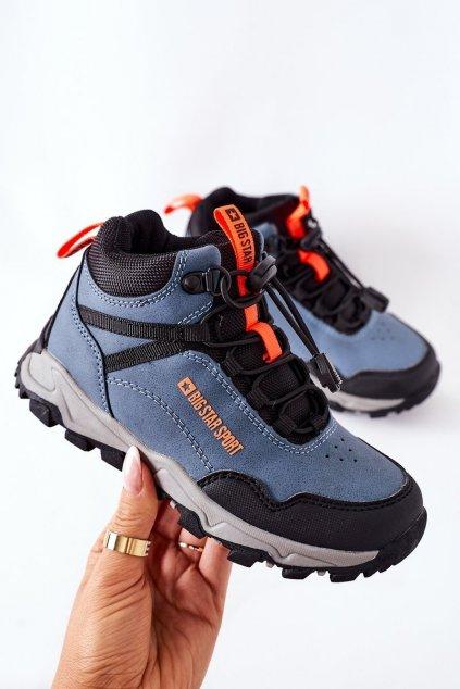 Detské tenisky farba modrá kód obuvi GG374048 NAVY
