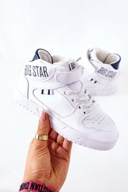 Detské tenisky farba biela kód obuvi II374034 WHITE/NAVY