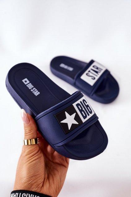 Detské šľapky farba modrá kód obuvi DD374152 NAVY