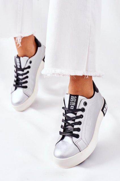 Dámske tenisky farba sivá kód obuvi II274034 SILVER