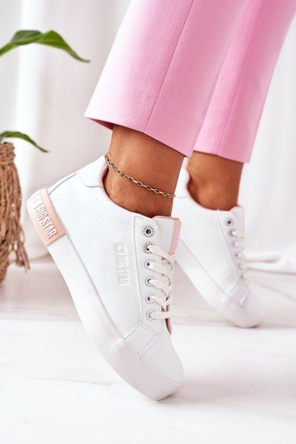 Dámske tenisky farba ružová kód obuvi II274033 WHITE/NUDE