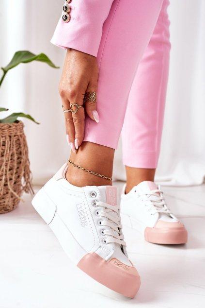 Dámske tenisky farba ružová kód obuvi II274027 WHITE/NUDE