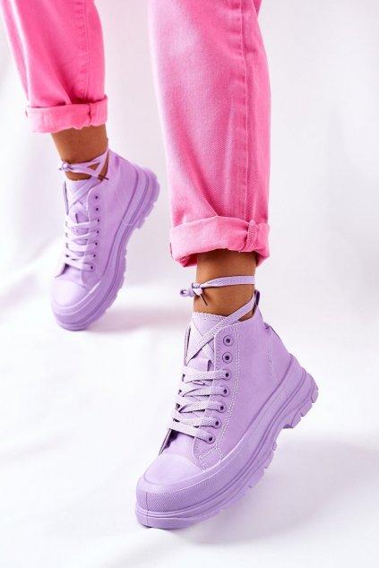 Dámske tenisky farba fialová kód obuvi G-19 PURPLE
