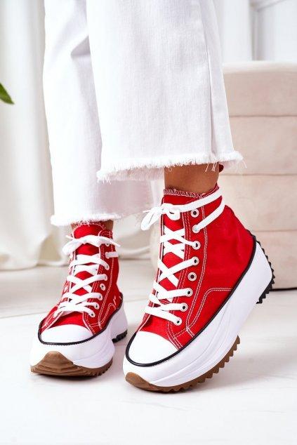 Dámske tenisky farba biela kód obuvi G-12 RED