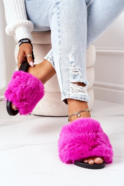 Dámske šľapky farba ružová kód obuvi 886-20 PLUM