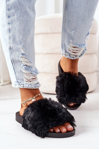 Dámske šľapky farba čierna kód obuvi 886-20 BLACK
