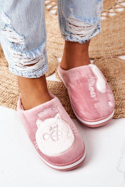 Dámske šľapky farba ružová kód obuvi WHM-802 SKIN RED