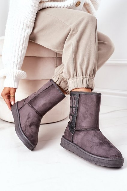 Dámske snehule farba sivá kód obuvi EE274417 GREY