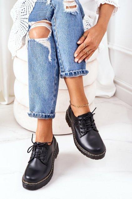 Dámske poltopánky farba čierna kód obuvi II274107 BLACK