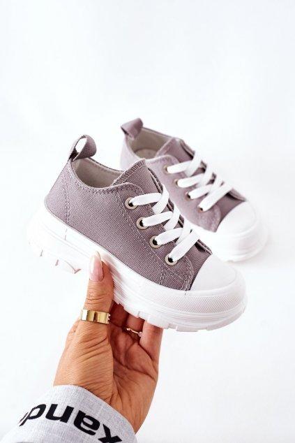 Detské tenisky farba sivá kód obuvi 808-F GREY