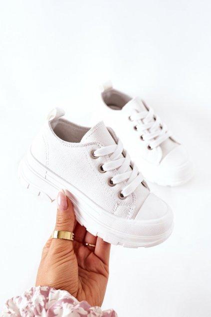 Detské tenisky farba biela kód obuvi 808-C WHITE