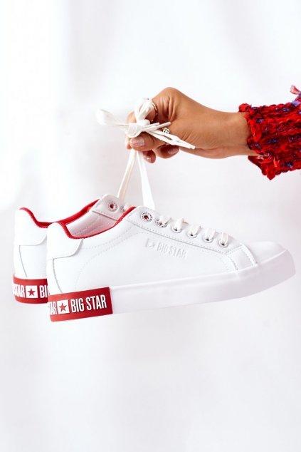 Dámske tenisky farba biela kód obuvi II274032 WHITE/RED