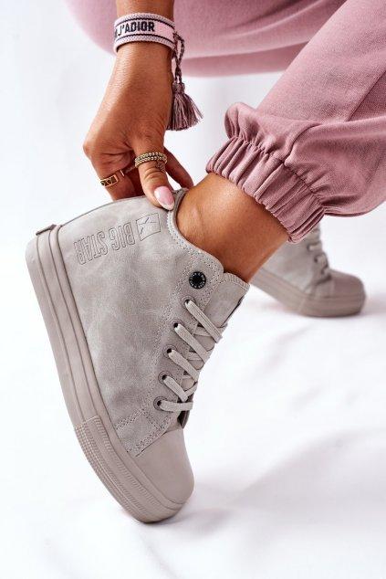 Dámske tenisky farba sivá kód obuvi II274093 GREY