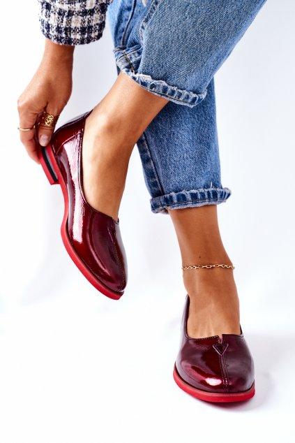 Dámske poltopánky farba červená kód obuvi 05035-23/00-5 BORDOWY