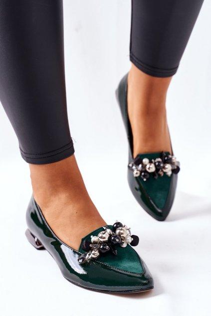 Dámske balerínky farba zelená kód obuvi 2157 GREEN 617-320