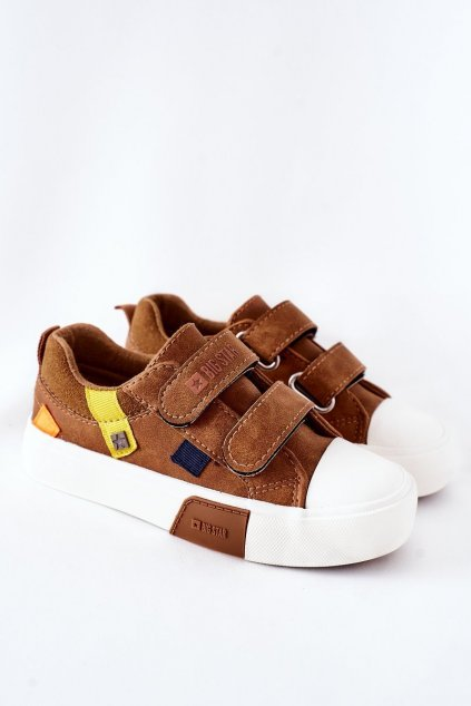 Detské tenisky farba hnedá kód obuvi II374017 CAMEL