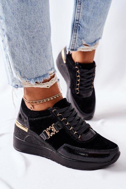Dámske tenisky farba čierna kód obuvi 94865 BLK