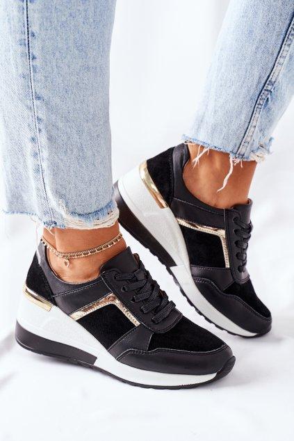 Dámske tenisky farba čierna kód obuvi 21132 BLK/WHI