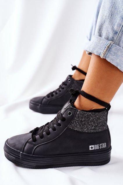Dámske tenisky farba čierna kód obuvi II274147 BLK
