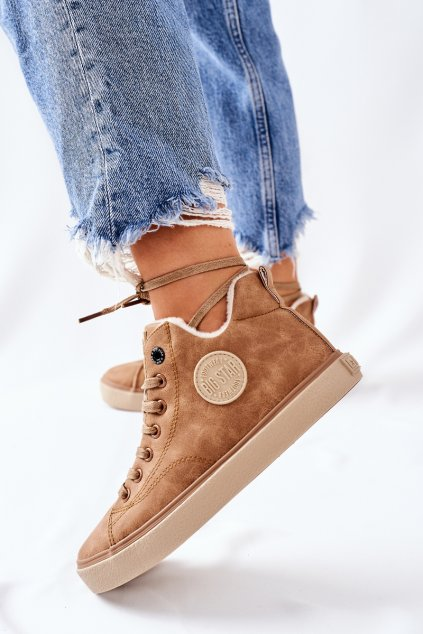 Dámske tenisky farba hnedá kód obuvi II274149 CAMEL