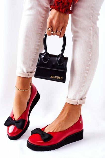 Dámske balerínky farba červená kód obuvi 05062-08/00-5 RED