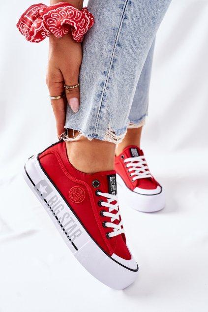 Dámske tenisky farba červená kód obuvi II274025 RED