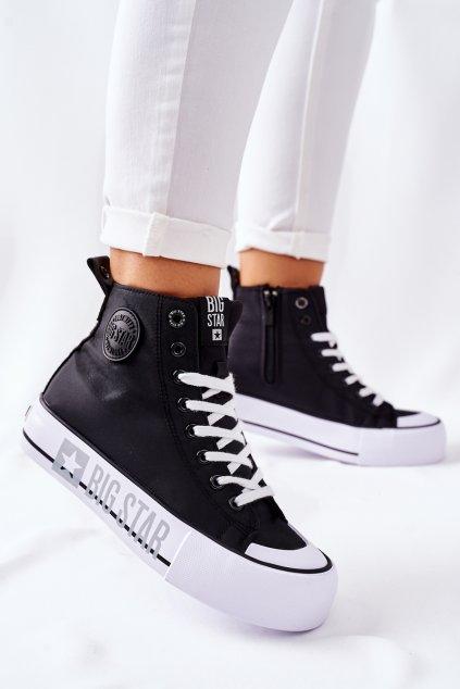 Dámske tenisky farba čierna kód obuvi II274012 BLK