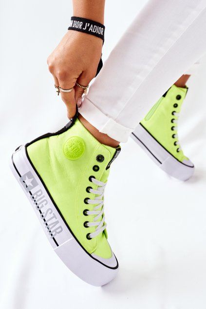 Dámske tenisky farba žltá kód obuvi II274015 YELLOW