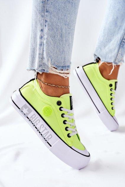 Dámske tenisky farba žltá kód obuvi II274022 YELLOW