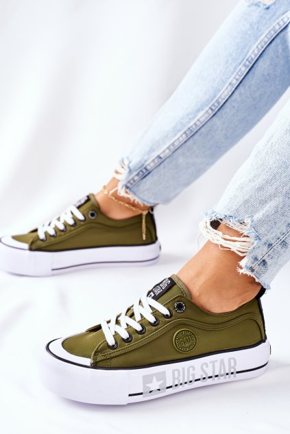 Dámske tenisky farba zelená kód obuvi II274024 KHAKI