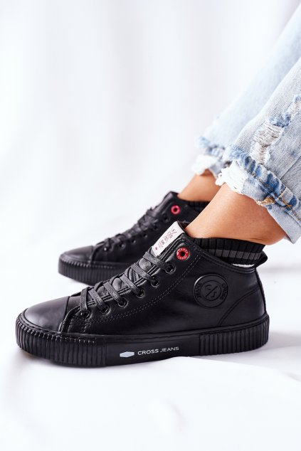Dámske tenisky farba čierna kód obuvi II2R4021 BLK