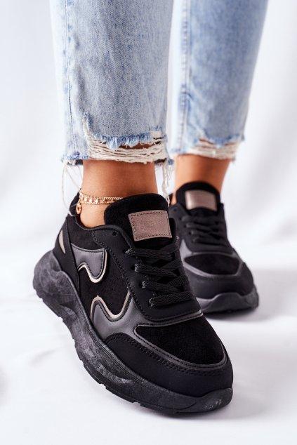 Dámske tenisky farba čierna kód obuvi BL237 BLK
